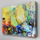 AB921 Modern multi colour paint run Canvas Wall Art Abstract Picture Large Print