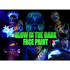 Glow in the Dark Black Light Glow Face Paint Assorted Colours