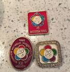 Lot of 3 - XII World Festival Of Youth Moscow 1985, Vintage Soviet Russia Pins