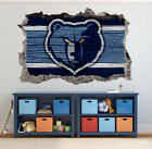 Memphis Grizzlies Wall Art Decal 3D Smashed Basketball NBA Wall Decor WL192 on eBay