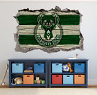 Milwaukee Bucks Wall Art Decal 3D Smashed Basketball NBA Wall Decor WL193 on eBay