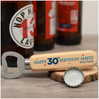 21st 30th 40th 50th Birthday Gifts for Him Dad PERSONALISED Wooden Bottle Opener