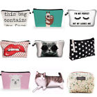 Cute Travel Cosmetic Bag Makeup Bag Organizer Cosmetic Pouch Case Storage Pouch@