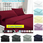 "15""Full Size Bed Sheet Set Soft Deep Pocket 2Pcs Flat Fitted Cover&2 Pillowcases image"