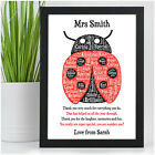 Personalised Ladybird Teacher Gifts - Teacher Nursery Thank You Leaving Gifts