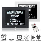 Digital Day Clock LED Calendar Dementia Alarm Time Date Month Year Memory Loss
