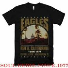 EAGLES HOTEL CALIFORNIA CLASSIC ROCK BAND  T SHIRT MEN'S SIZES image