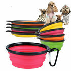 Внешний вид - Pet Supply Feeding Bowl  Collapsible Pet Cat Dish Water Feeder Silicone Dog Pet