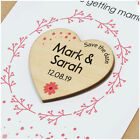 Save The Date Cards with Envelopes PERSONALISED Wooden Magnet Wedding Date Heart