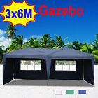 3M X 6M Gazebo Marquee Canopy  Awning Party Tent Camping Event Garden Patio BBQ