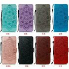 Fashion Flower Flip Stand Leather Wallet Card Slot Anti-fall Phone Case Strap