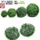 """8-12"""" Artificial Ball Long Leaf Boxwood Topiary Indoor Outdoor Plant Bush Tree $9.93 USD on eBay"""
