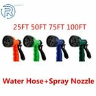 Kyпить Deluxe 25 50 75 100 Feet Expandable Flexible Garden Water Hose w/ Spray Nozzle на еВаy.соm