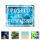 Home Decor Boston Posted No Trespassing Sign - Decal Sticker - Multiple Patterns & Sizes - Ebn4016 Outdoor Home Decorating