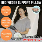 US Extra Thick Back Wedge Cushion Sofa Pillow Bed Office Chair Rest Neck Support image