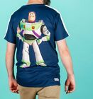 Official Men's Disney Pixar Toy Story Buzz Lightyear Back Print T-Shirt from Hyp