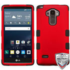 LG G VISTA VS880 Magnetic Leather Flip Slim Wallet Case Cover with strip stand