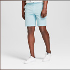 Goodfellow & Co Men's 9″ Linden Flat Front Shorts – Feather Aqua-Various Sizes