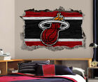 Miami Heat Wall Art Decal 3D Smashed Basketball NBA Wall Decor WL200 on eBay