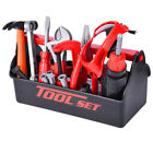 54PCS Kids Tool Toy Sets Construction Toolbox Pretend Toys With Electric Drill