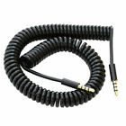 Black 1M Coiled AUX Jack Cable Lead For  SK-Phone X4