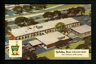 Holiday Inn Motel Hotel Postcard Illinois IL Chicago West concept draw helicopte