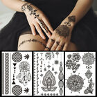 Women Men Black Sticker Henna Lace Temporary Tattoo Body Stickers Fashion DIY $2.25 USD on eBay