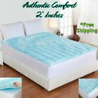 2 Inch Orthopedic Foam Cooling Mattress Topper Queen King Full Twin Matress Pad  image