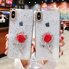 Bling Flower Dropping Glue Phone Case Protective Cover for i Phone X XS MAX 6s 8