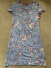 Joules Ladies Long Tunic Dreas Paisley Blue Pink Size 6