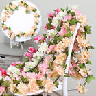 Cherry Blossoms Hanging Wreath Fresh Fake Plant Flower Vine Leaf Home Decoration