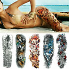 3D Fake Temporary Tattoo Large Full Body Arm Art Waterproof Tattoo Sticker 1 Pc $3.64 USD on eBay
