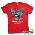 Official Gas Monkey Garage Skull GMG Fast N Loud Red T-Shirt