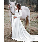 US Pregnant Women Off Shoulder Maternity Dress Photography Prop Photo Shoot Gown