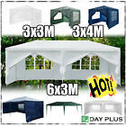 Gazebo Waterproof Garden Outdoor Marquee Wedding Party PE Tent 3x3m/ 3x4m/ 3x6m