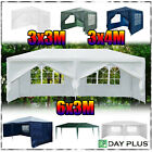 6MX3M 4MX3M 3MX3M Garden Gazebo Outdoor Marquee Canopy PE Tent Party Wedding BBQ