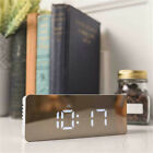 Creative LED Digital Alarm Clock Night Light Thermometer Display Mirror Lamp TOP