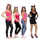 3 Little Pigs Bad Wolf Storybook Halloween Group Costume Ears Nose Tail Bow Set