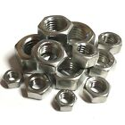 "10-32 1/4 5/16 3/8 7/16"" 1/2"" 5/8"" UNF IMPERIAL A2 STAINLESS STEEL HEX FULL NUTS"