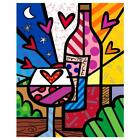 "Britto ""Rose All Day"" Hand Signed Limited Edition Giclee Canvas; Authenticated"
