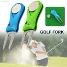 FEE1 2color Golf Repair Fork Portable Golf Pitch Forks Golf Divot Tool