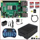 Raspberry Pi 4 B 1G 2G 4G DIY Kit Power Supply Black Case Fan Micro-SD HDMI
