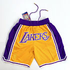 Lakers Just Don Mitchell Basketball Shorts Lebron James League Yellow LA S-XXL