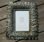 Vintage Shabby Chic Gold Silver Lace Photo Picture Frame Square Wedding Gift
