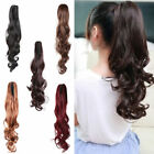 46cm Women Ponytail Extension Hair Piece Long Curly Wavy Claw Clip-on Hairpiece