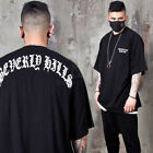 NewStylish Mens Unique lettering printed boxy fit t-shirts