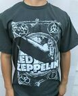 LED ZEPPELIN BLIMP  ROCK GRAY  T SHIRT MEN'S SIZE image