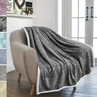 Sherpa Throw Blanket for Couch Sofa Twin Bed Reversible Soft Microfiber Fleece image