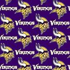 Minnesota Vikings Fabric by the Yard, by the Half Yard, NFL Cotton Fabric $9.5 USD on eBay