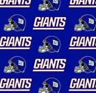 New York Giants Fabric by the Yard or Half Yard, (LARGE PRINT) NFL Cotton Fabric $9.5 USD on eBay